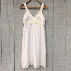 Velvet Silk Slip Dress